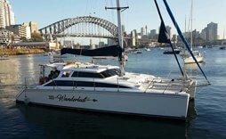 Wanderlust sydney Catamaran boat hire
