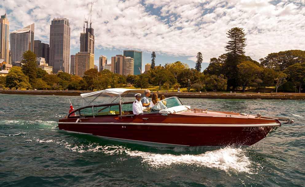 MV BEL luxury wooden boat on sydney harbour
